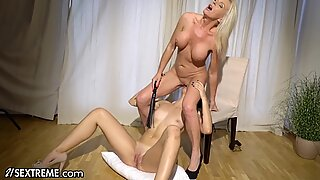 21Sextreme Mature Lesbian Blindfolds Younger Girlfriend