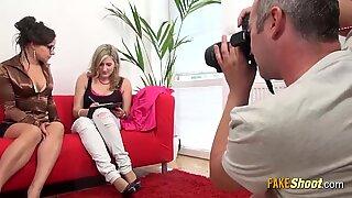 Shy Blonde Milf Gets a Photoshoot