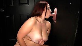 Gloryhole Secrets BBW Tiffany blowjobs and swallowing