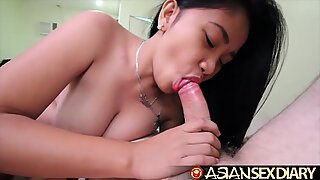 Asian Sex Diary - Young Asian with huge perfect tits gets fucked
