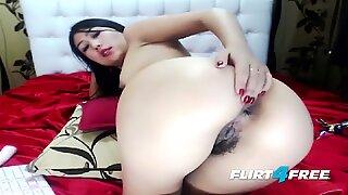 Sweet Asian Norah Nova Fingers Her Wet Hairy Pussy