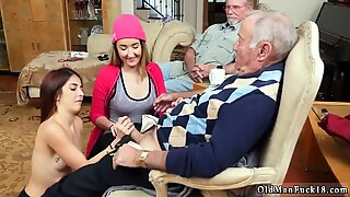 Old granny with big boobs and blonde teen daddy Maximas Errectis