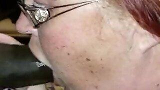 Old Bitch Gets First Taste Of Black Dick