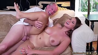 Old mature women with young guys first time Ivy impresses with her large mounds and ass - Ivy Young