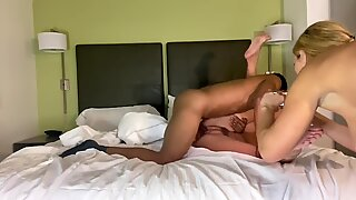Big Tit MILF Fucked by Black Cock Step Son till she Cums on his Dick