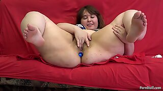 buttplug in the ass panties in cooch youthful bbw