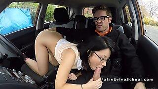 Petite Asian fucks her instructor